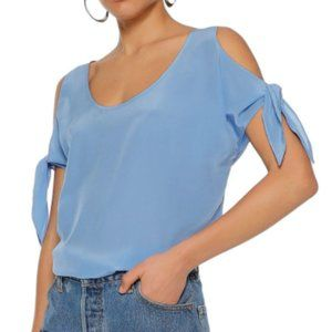 BAILEY44 Amabelle Cold Shoulder 100% Silk Blouse